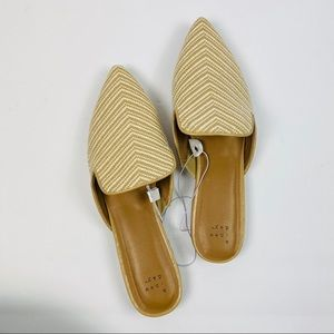 A New Day | Pointed Toe Chevron Design Flats